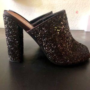 Mules heels open toe